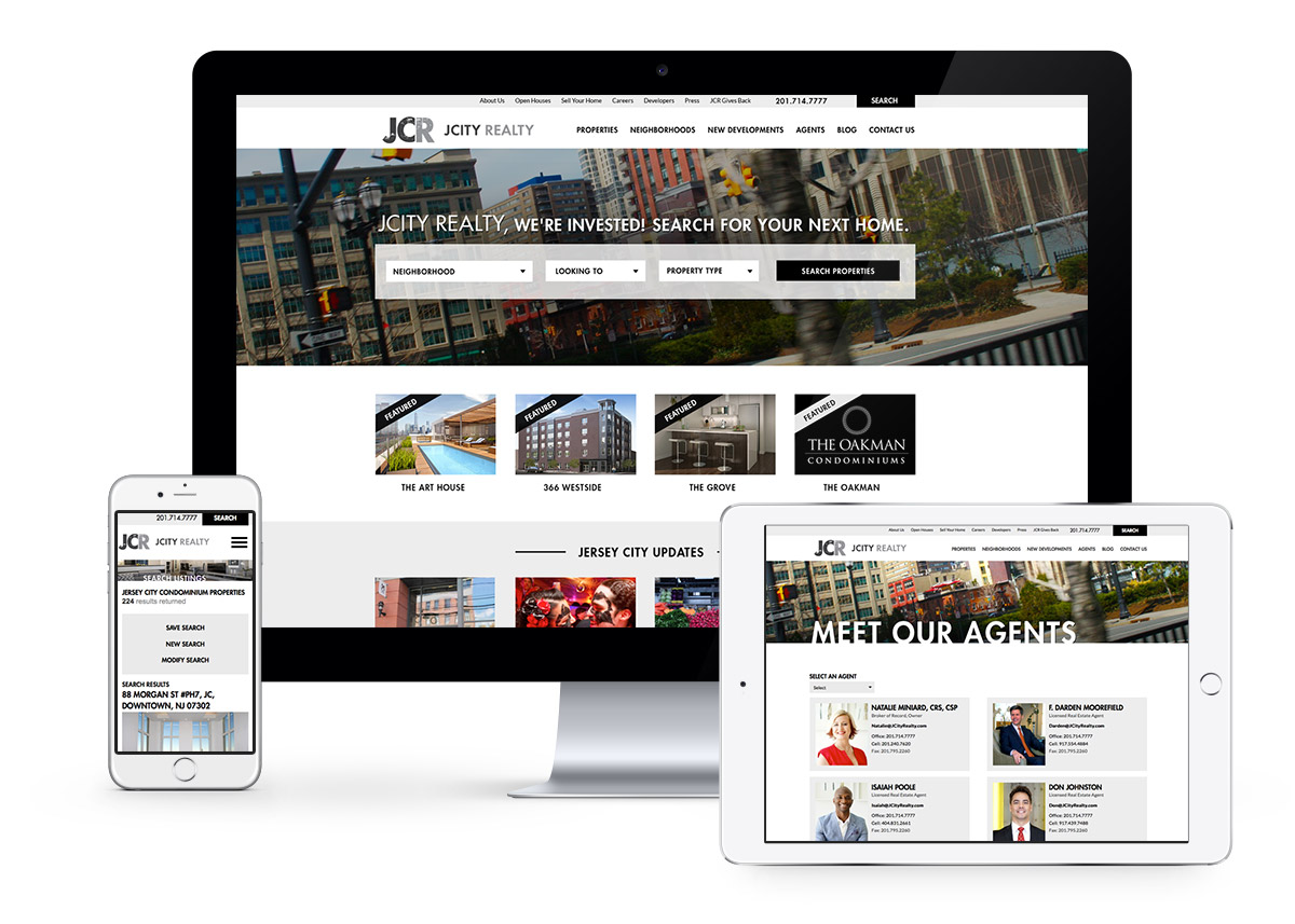 Award Winning Real Estate Website - Jcity Realty